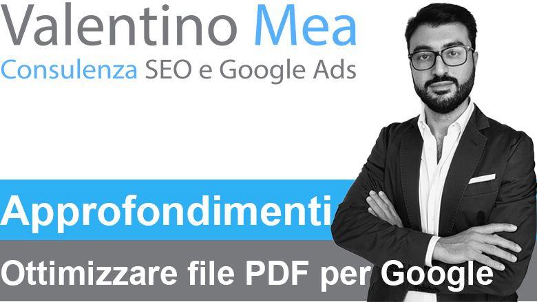 Ottimizzazione SEO PDF per l'indicizzazione su Google